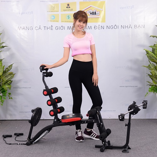 Máy tập New Six Pack Care New 2018 + Đai X5