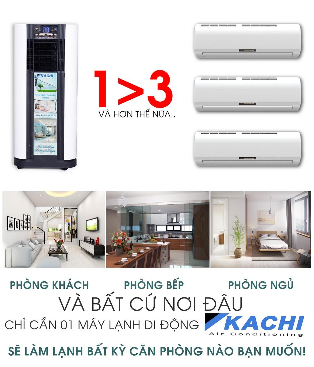 Máy lạnh di động Kachi sản phẩm 3 trong 1