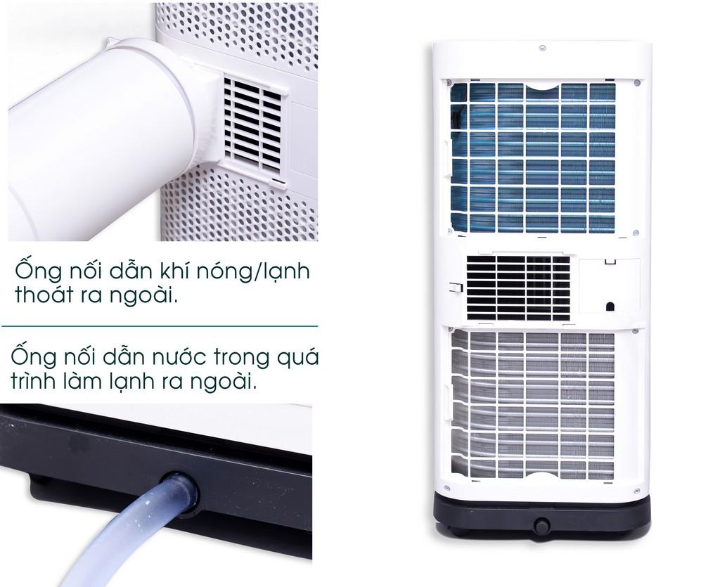ống dẫn nối ra ngoài của máy lạnh di động