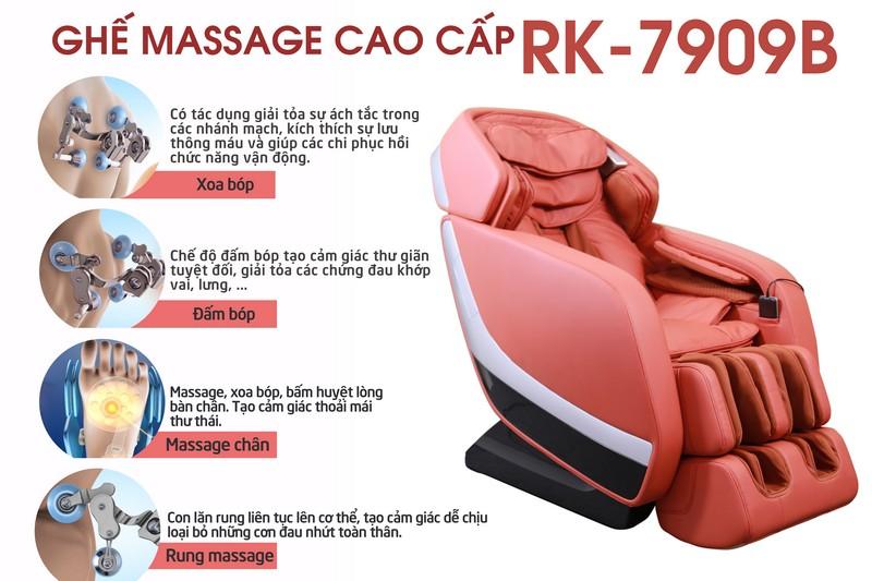 Con lăn massage lưng với chức năng làm nóng, giống như bàn tay của người  massage mang đến cảm giác thoải mái dễ chịu cho người sử dụng.