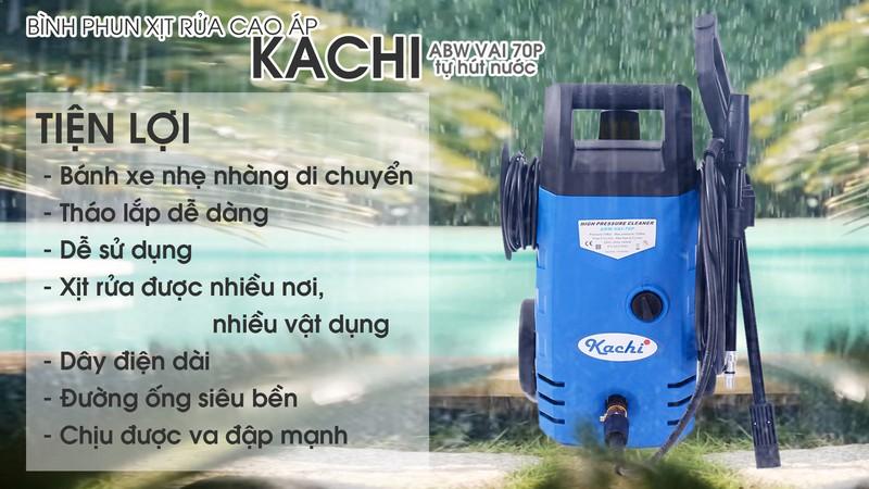 Biinhf phụn xịt rửa cao áp Kachi sử dụng rất tiện lợi
